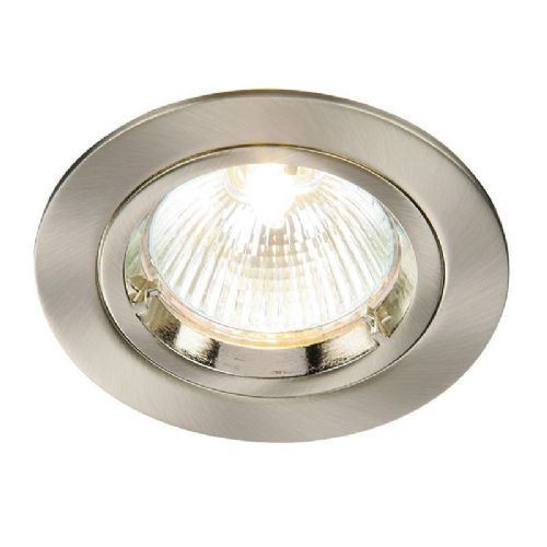 Satin nickel effect plate Recessed Light BX52330-17 by Endon (Class 2 Double Insulated)